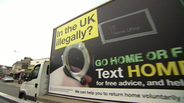 Van showing the 'Go home' message