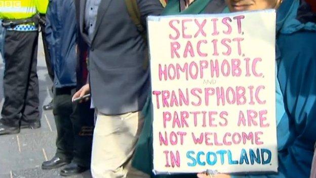 Nigel Farage's visit to Edinburgh last year was met with protests