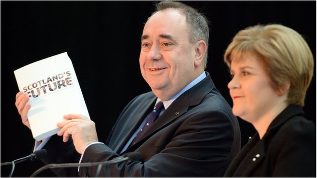 Alex Salmond and Nicola Sturgeon launch the white paper