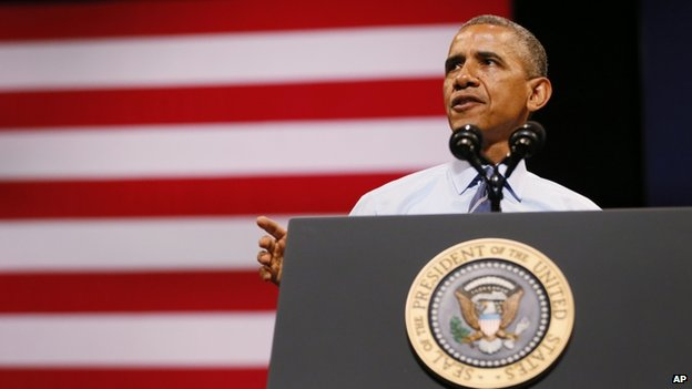 President Barack Obama appeared in Austin, Texas on 10 July 2014