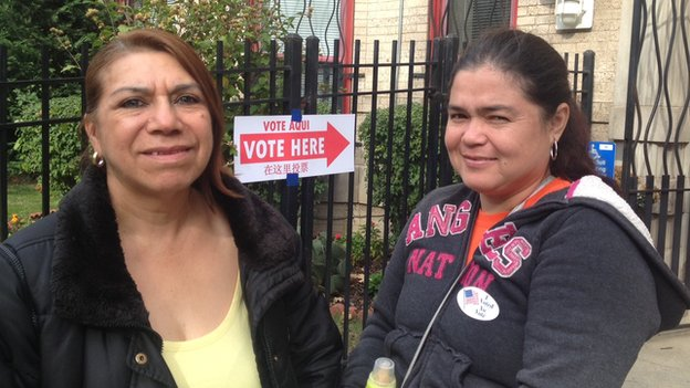 Two Hispanic voters